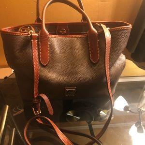 Dooney & Bourke taupe satchel bag